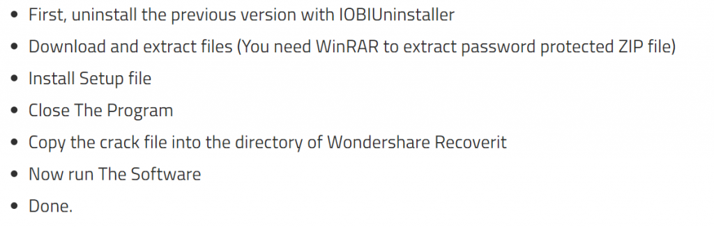 Wondershare Recoverit Pro crack